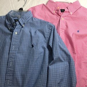 Two men's Ralph Lauren Dress shirts size small